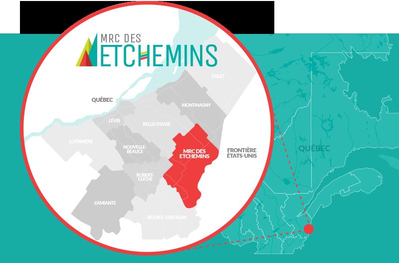 Etchemins à 1h15 de Québec